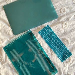 MacBook 14 inch teal laptop case